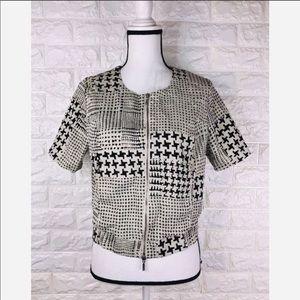 Cabi Crop Short Sleeve Full Zip Jacket Size M